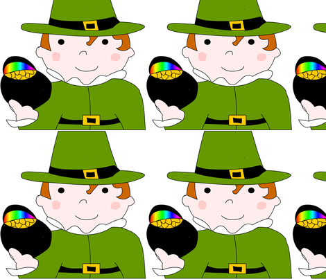 leprechaun fabric by andtwinsmake5 on Spoonflower - custom fabric