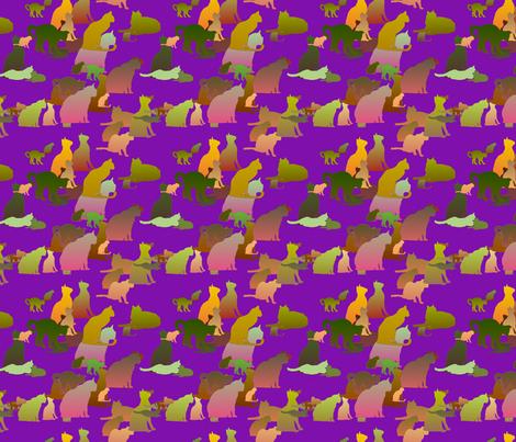 Purple_Kitties fabric by patsijean on Spoonflower - custom fabric