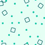 Stylized Flower - Ditsy Blocks and Dots (teal)