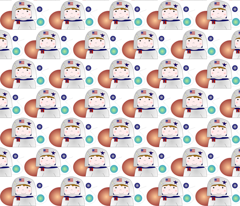 astronaut fabric by andtwinsmake5 on Spoonflower - custom fabric