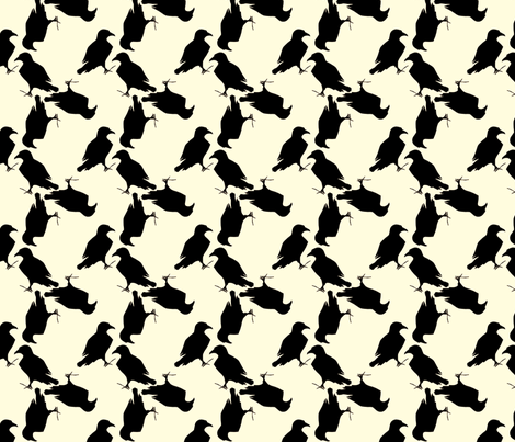 raven fabric by trollop on Spoonflower - custom fabric