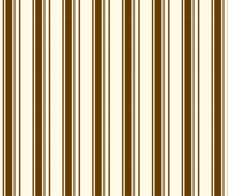 Coffee - Stripe fabric by studiofibonacci on Spoonflower - custom fabric
