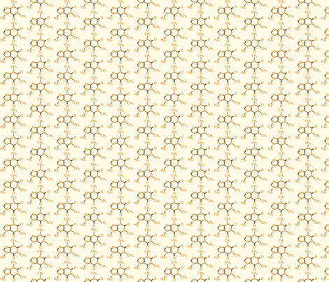 Coffee - Caffeine Molecule fabric by studiofibonacci on Spoonflower - custom fabric