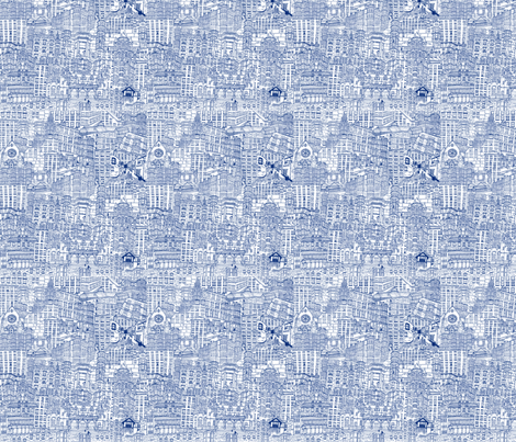 West end tenements fabric by libby_walker on Spoonflower - custom fabric