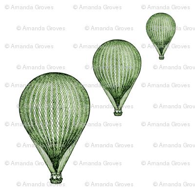 balloon_greenmirror__8_by_8_quilt_block