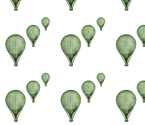 balloon_greenmirror__8_by_8_quilt_block fabric by chibibutterfly on Spoonflower - custom fabric