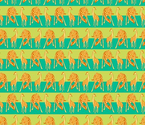 Giraffe Spots and Stripe fabric by eloisenarrigan on Spoonflower - custom fabric