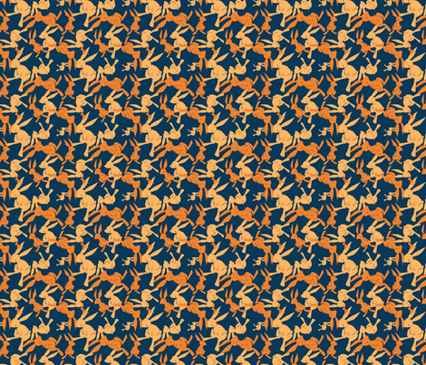 navyrabbits fabric by eloisenarrigan on Spoonflower - custom fabric