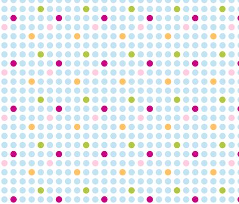 Turquoise Spots fabric by flowerpress on Spoonflower - custom fabric