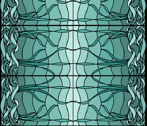 Marsh1c_seafoam_&_bluegreen_BORDER fabric by mina on Spoonflower - custom fabric