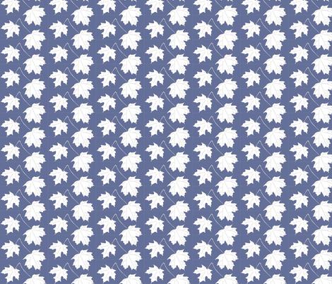 WRW-maple-2lvs-sm-dkblwht fabric by mina on Spoonflower - custom fabric