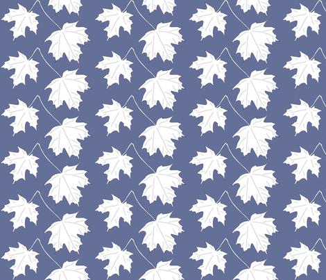 WRW-maple-2lvs-dkblwht fabric by mina on Spoonflower - custom fabric