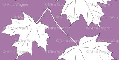 2 Maple Leaves-dark lilac