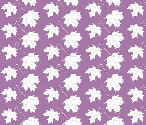 2 Maple Leaves-dark lilac fabric by mina on Spoonflower - custom fabric