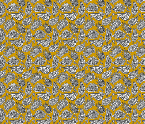 Amber_paisley_pattern fabric by lesleysutton on Spoonflower - custom fabric