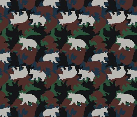 Little Bear Camo fabric by littlebear on Spoonflower - custom fabric
