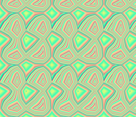 Wobble in Neon Green fabric by minerva_bloom on Spoonflower - custom fabric