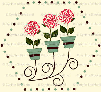 Wall_Planter__FLowers__Dots