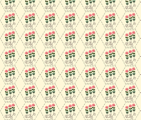 Wall_Planter__FLowers__Dots fabric by cksstudio80 on Spoonflower - custom fabric