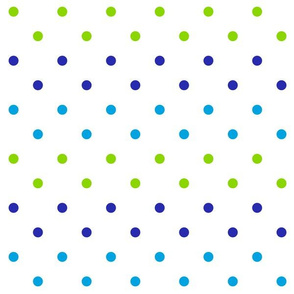 Spring Dot in Berry Blues/ Lime Green