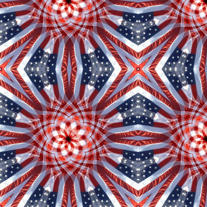 spiral stars and stripes