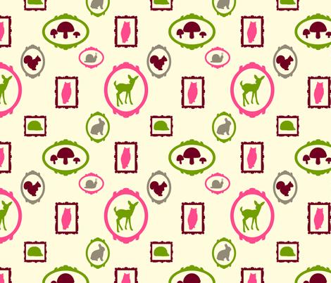 WoodlandSillhouettes8 fabric by carolinaharris on Spoonflower - custom fabric