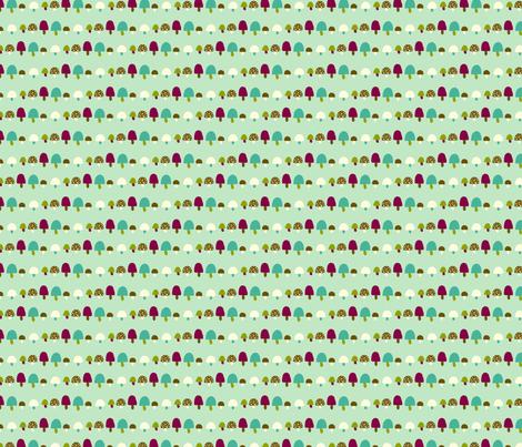 MushroomRowssmall fabric by carolinaharris on Spoonflower - custom fabric