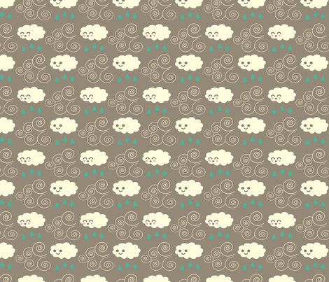 clouddarkrecolorsmall fabric by carolinaharris on Spoonflower - custom fabric