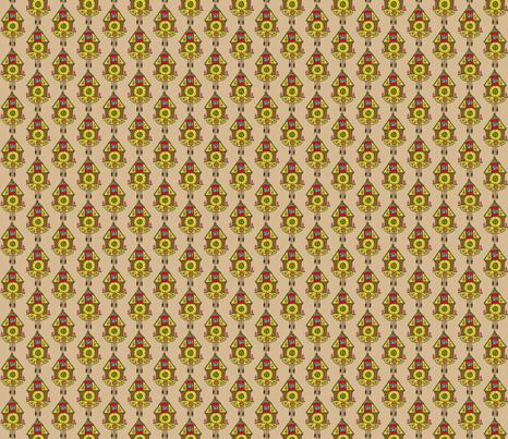 Cuckoo Clock fabric by heidikenney on Spoonflower - custom fabric