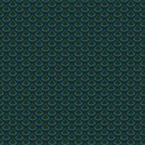 Nouveau Peacock Drops Green