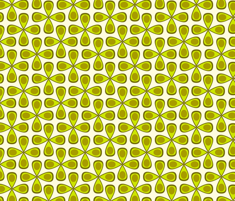 Avocado Flowers fabric by wendymoon on Spoonflower - custom fabric