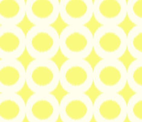 sun cream circle ikat fabric by domesticate on Spoonflower - custom fabric