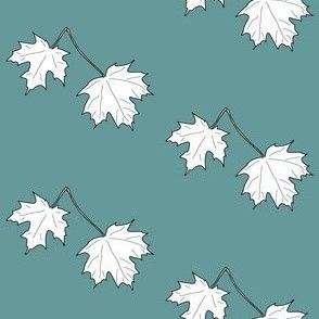 Maple-leaves-on-light-green