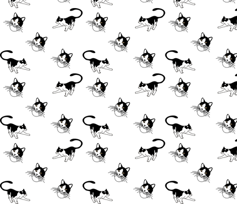 cats,cats,cats fabric by lacefairy on Spoonflower - custom fabric