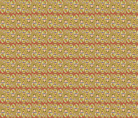 nesting dolls fabric by heidikenney on Spoonflower - custom fabric