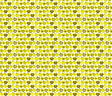 Small_Yellow_Apples_Spring_09 fabric by chaebird on Spoonflower - custom fabric