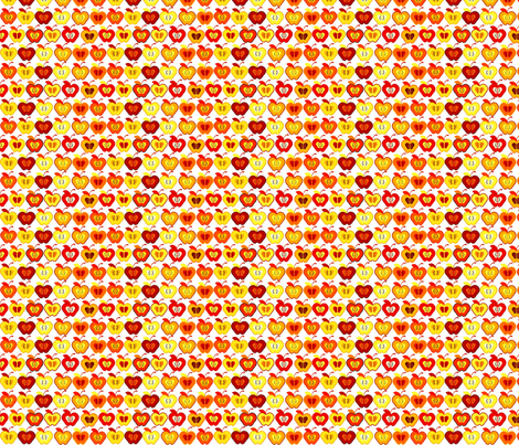 Small_Orange_Apples_Spring_09 fabric by chaebird on Spoonflower - custom fabric
