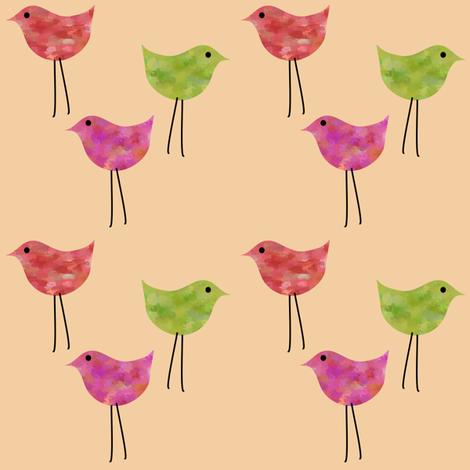 3birdsvo fabric by vo_aka_virginiao on Spoonflower - custom fabric