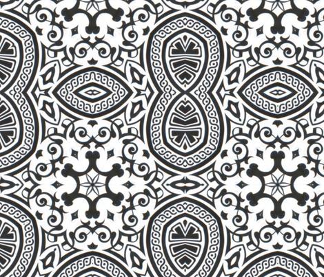 BW Swirls fabric by amarina on Spoonflower - custom fabric