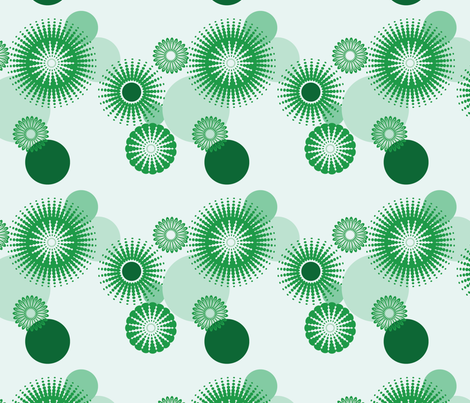 Sparkling Circles - 8in (green) fabric by studiofibonacci on Spoonflower - custom fabric