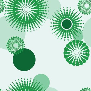 Sparkling Circles - 8in (green)