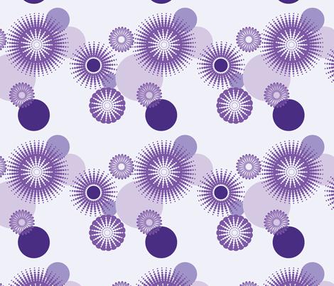 Sparkling Circles - 8in (purple) fabric by studiofibonacci on Spoonflower - custom fabric
