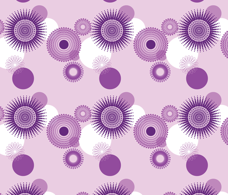 Circles - Purple fabric by studiofibonacci on Spoonflower - custom fabric