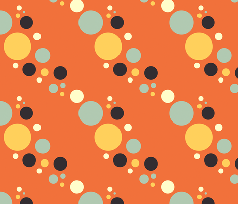bubbles orange fabric by cyoungquist on Spoonflower - custom fabric