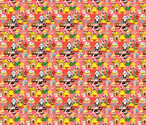 asia-rose fabric by papacan on Spoonflower - custom fabric