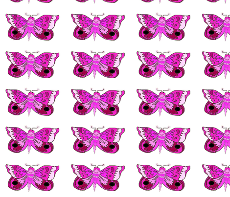 Purple_Moth_white fabric by eelkat on Spoonflower - custom fabric