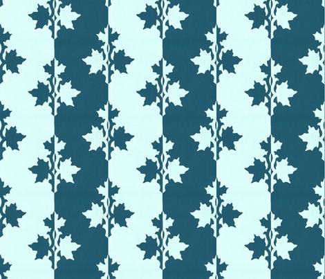 DARK-BLUE-TEAL_counterchange_stripe_papercut_aqua fabric by mina on Spoonflower - custom fabric