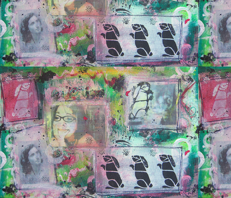 bunnies fabric by stonetta on Spoonflower - custom fabric