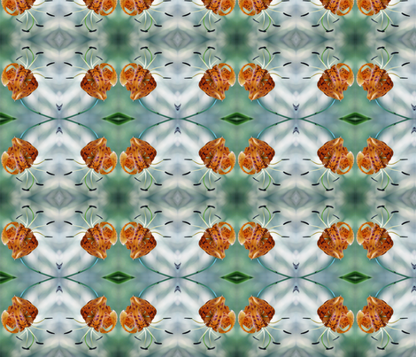 tigerlily-mandala-1-fabric fabric by mina on Spoonflower - custom fabric