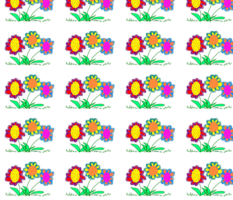 spring_flowers2 fabric by eelkat on Spoonflower - custom fabric